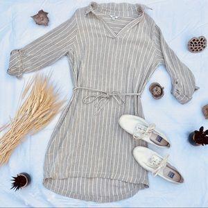 Gray & White Striped Sonoma Dress